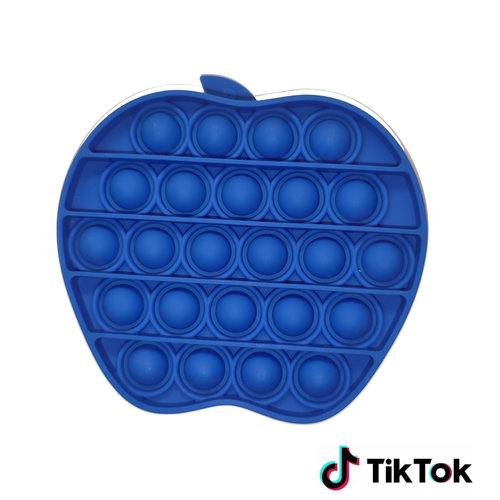Pop It Fidget Toy - Bekend van TikTok - Appel - Blauw