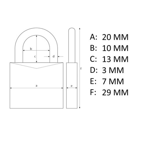 Stahlex Hangslot 20mm - 3 stuks