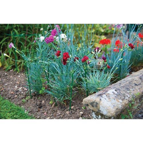 Silverline Planten Steunring, hoogte 45 cm. met 14, 16 en 18 cm. ring