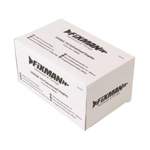 Fixman 10 J Gegalvaniseerde Nietjes, 5000 Stuks 11,2 x 14 x 1,16 mm.