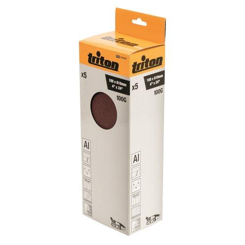 Triton Schuurband 100 x 610 mm, 100 Korrel - 5 Stuks