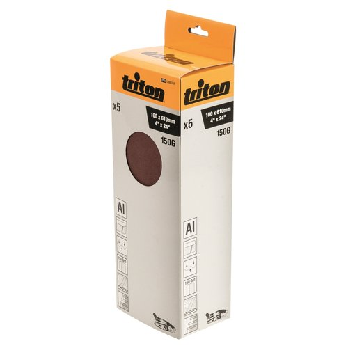 Triton Schuurband 100 x 610 mm, 150 Korrel - 5 Stuks