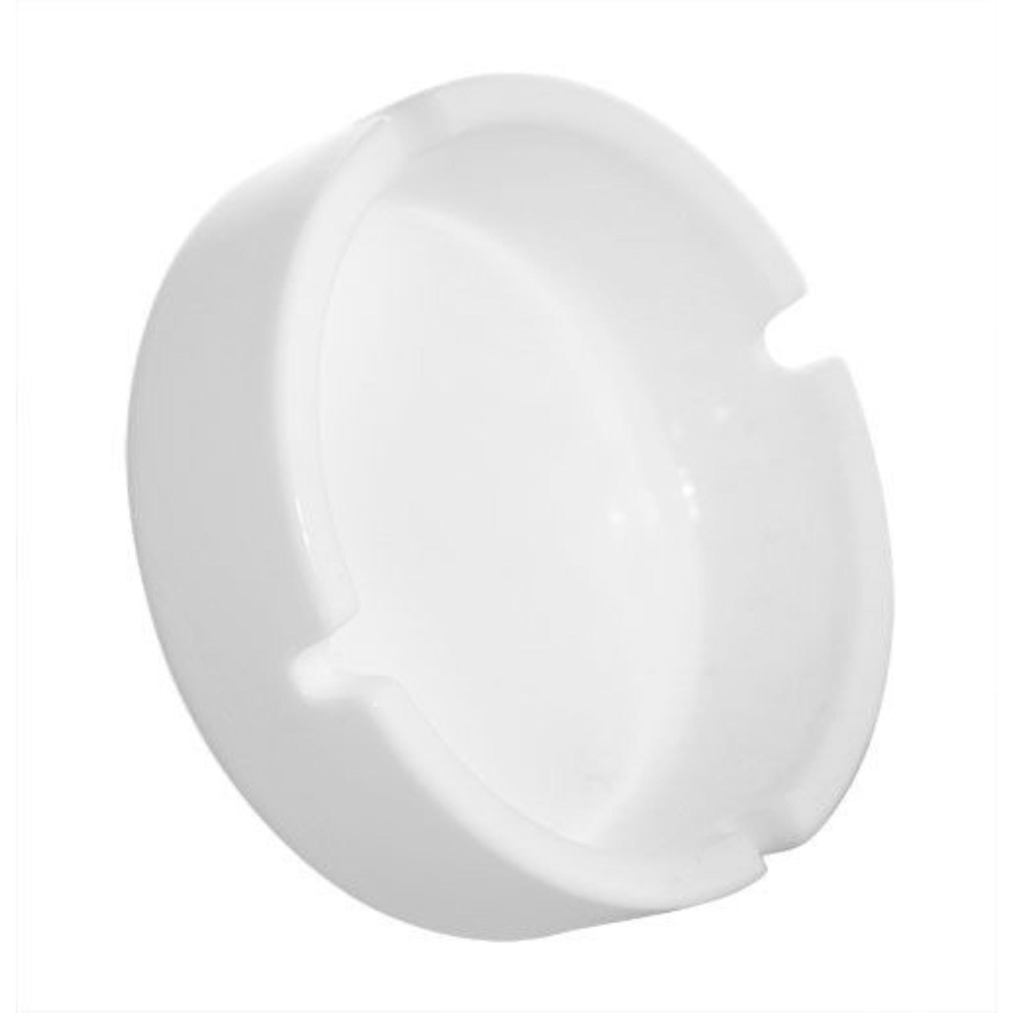 Witte Porselein Asbak - Doorsnede 10 cm.