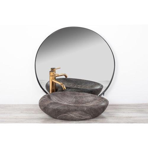 REA Roxy A Opzetwastafel / Waskom - 49 x 31 x 13.5 cm. - Stone Dark Grey - Stonelook