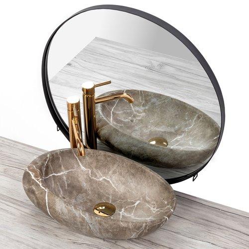 REA Roxy B Opzetwastafel / Waskom - 49 x 31 x 13.5 cm. - Stone Nature - Stonelook