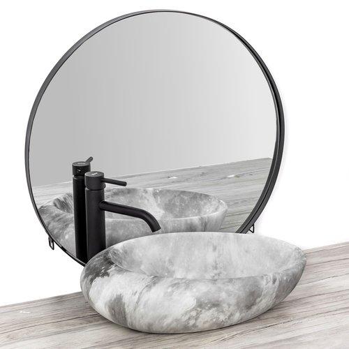 REA Roxy C Opzetwastafel / Waskom - 49 x 31 x 13.5 cm. - Stone Light Grey - Stonelook