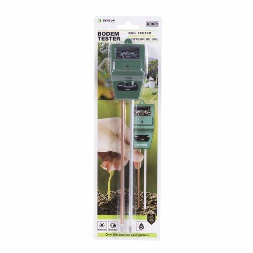 Benson Benson Bodemtester - PH-Meter - Groen - 3-in-1 Functionaliteit