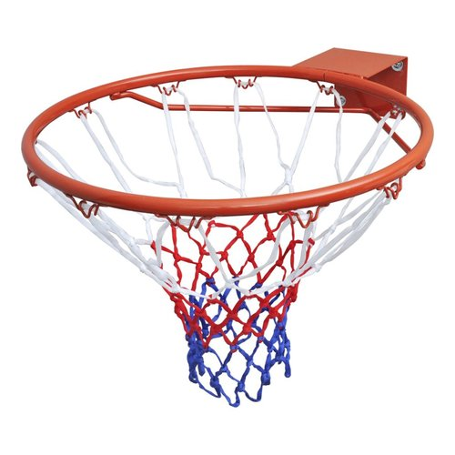 Dunlop Basketbalkorf / Basketbal ring 45cm + net (Oranje)