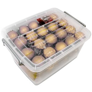 Lifetime Kerstballen set in box - 70 ballen - Plastic / Kunststof | Goud