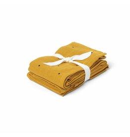 Liewood Liewood tetradoek 2-pack 70x70 classic dot mustard