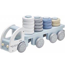 Kid's Concept Kid's Concept vrachtwagen met ringen blauw