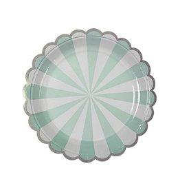 Meri Meri Meri Meri aqua stripe small plates