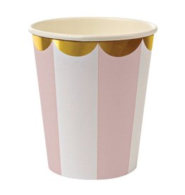 Meri Meri Meri Meri dusty pink striped cups