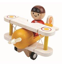 Plan Toys Plan Toys classic vliegtuig met piloot