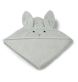 Liewood Liewood Augusta badcape 100x100 rabbit dusty mint