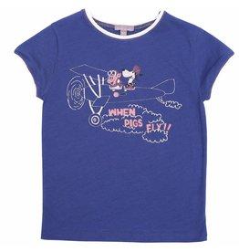 Emile et Ida Emile et Ida T-shirt outremer aviateur