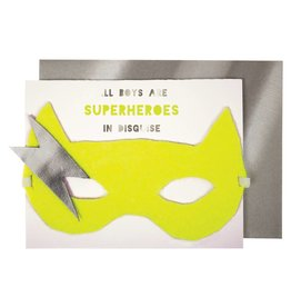 Meri Meri Meri Meri boy superhero mask card
