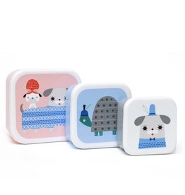 Petit Monkey Petit Monkey lunchbox set peanut & co