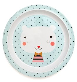 Petit Monkey Petit Monkey melamine bord bear drops light blue