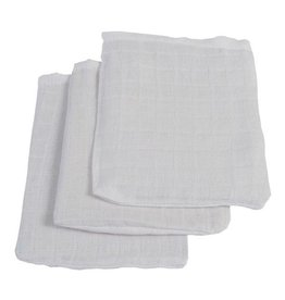 Jollein hydrofiel washandje wit 3-pack