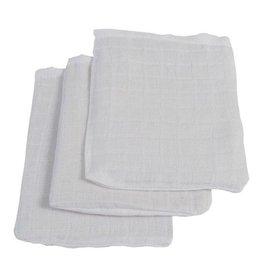 Jollein Jollein hydrofiele washandjes wit 3-pack