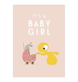Olli + Jeujeu Olli + Jeujeu wenskaart It's a baby girl