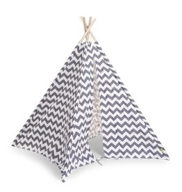 Childhome Childhome tipi tent zigzag grijs/wit