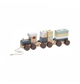 Kid's Concept Kid's Concept trein met blokken natural