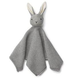 Liewood Liewood Milo knuffeldoek knit rabbit grey melange