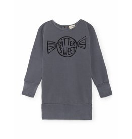 Bobo Choses Bobo Choses dress fleece bitter sweet dusty blue
