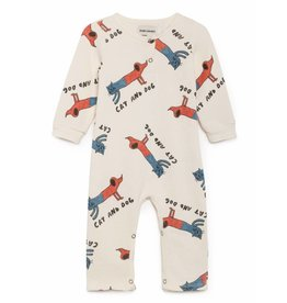 Bobo Choses Bobo Choses playsuit cats and dogs high-rise