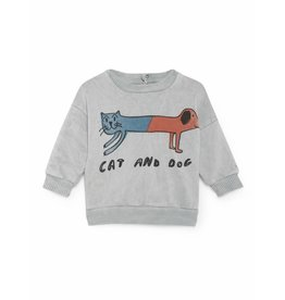 Bobo Choses Bobo Choses sweatshirt round neck cat and dog high-rise