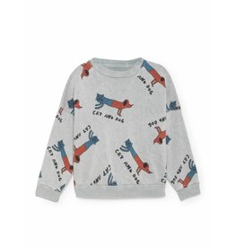 Bobo Choses Bobo Choses sweatshirt round neck cats and dogs high-rise
