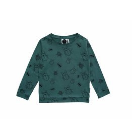 Sproet & Sprout Sproet & Sprout longsleeve bugs allover forest green