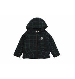 Sproet & Sprout Sproet & Sprout puffy jacket marshmallow lovers black & forrest green check