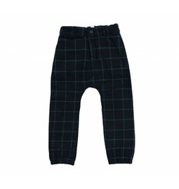 Sproet & Sprout Sproet & Sprout woven pants check black & forrest green
