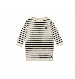 Sproet & Sprout Sproet & Sprout sweat dress beetle embroidery black & milk stripe