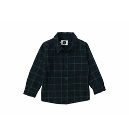 Sproet & Sprout Sproet & Sprout shirt check black with forrest green
