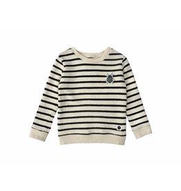 Sproet & Sprout Sproet & Sprout sweater beetle badge milk & & black stripe