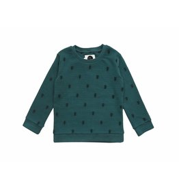Sproet & Sprout Sproet & Sprout sweater ants allover forrest green