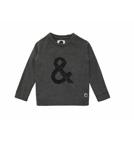 Sproet & Sprout Sproet & Sprout sweater raglan & sign dark grey melee