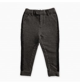 Sproet & Sprout Sproet & Sprout sweat chino black & off-white stripe