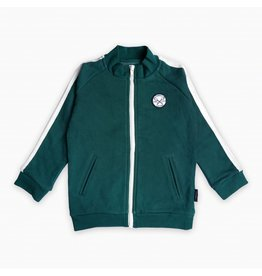 Sproet & Sprout Sproet & Sprout sweat cardigan marshmallow lovers badge dark forrest green