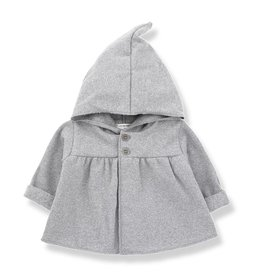 1 + in the family 1 + in the family hood jacket iratxe light grey