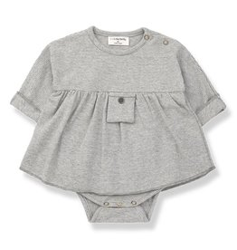 1 + in the family 1 + in the family dress with body iria light grey/ecru
