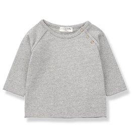 1 + in the family 1 + in the family shirt eneko light grey/ecru