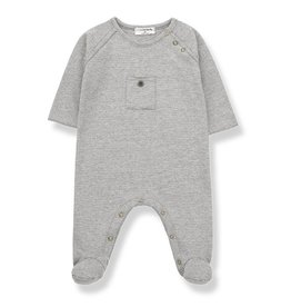 1 + in the family 1 + in the family jumpsuit asier light grey/ecru