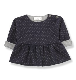 1 + in the family 1 + in the family blouse muriel blue/grey
