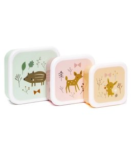 Petit Monkey Petit Monkey lunchbox set forest friends
