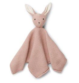 Liewood Liewood Milo knuffeldoek knit rabbit rose